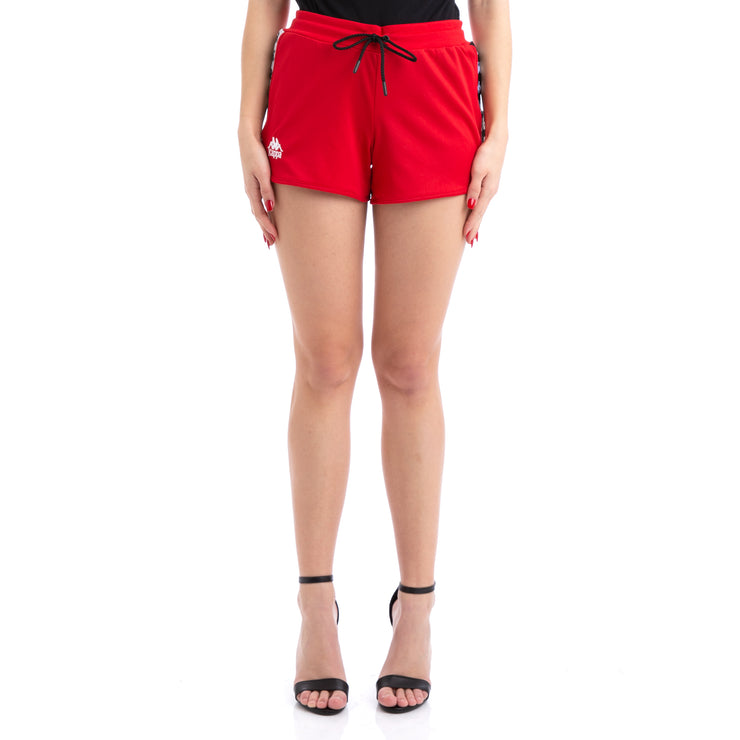 Kappa 222 Banda Anguy Alternating Banda Red White Black Shorts