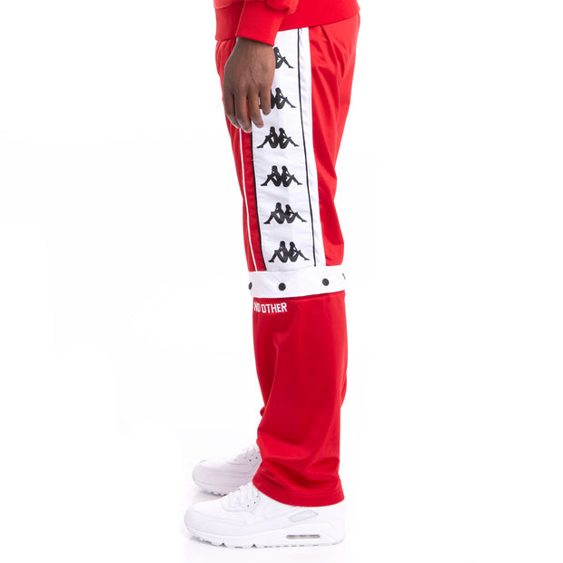 Kappa Authentic Baltas Red Black White Trackpants