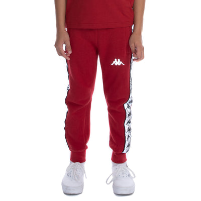 Kids 222 Banda Dariis Reflective Sweatpants - Red Grey Reflective