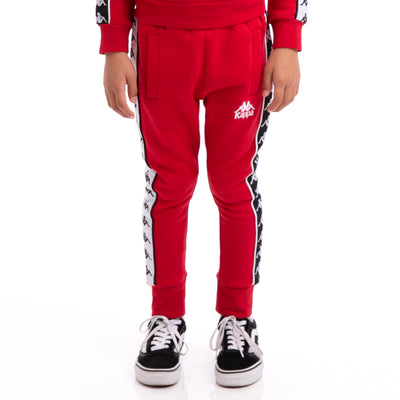 Kappa Kids 222 Banda Alan Alternating Banda Red Black White Sweatpants