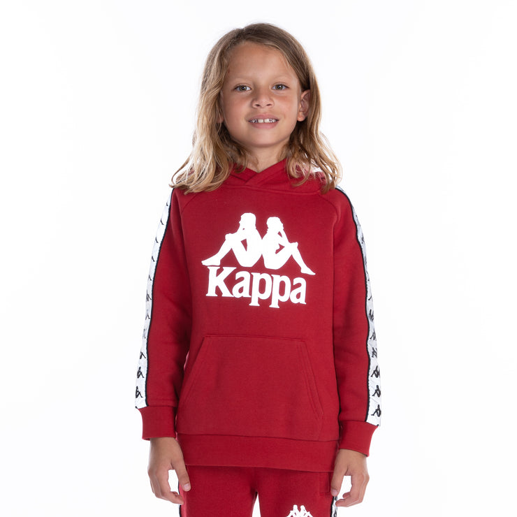 Kids 222 Banda Deniss Reflective Hoodie - Red Grey Reflective