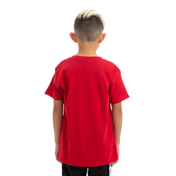 Kappa Kids Authentic Estessi Slim Red White T-Shirt