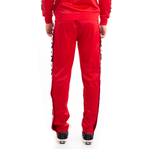 Kappa Authentic Anthony Disney Red Black Trackpants
