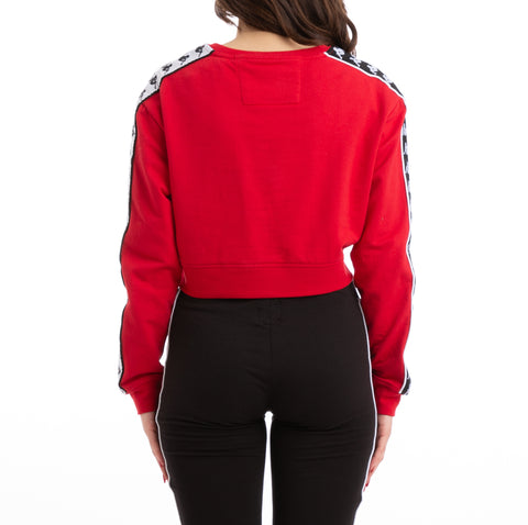 Kappa 222 Banda Ays Alternating Banda Red Black White Sweatshirt
