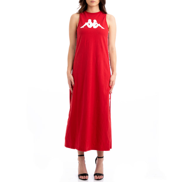 Kappa Authentic Jpn Banoy Red White Black Dress