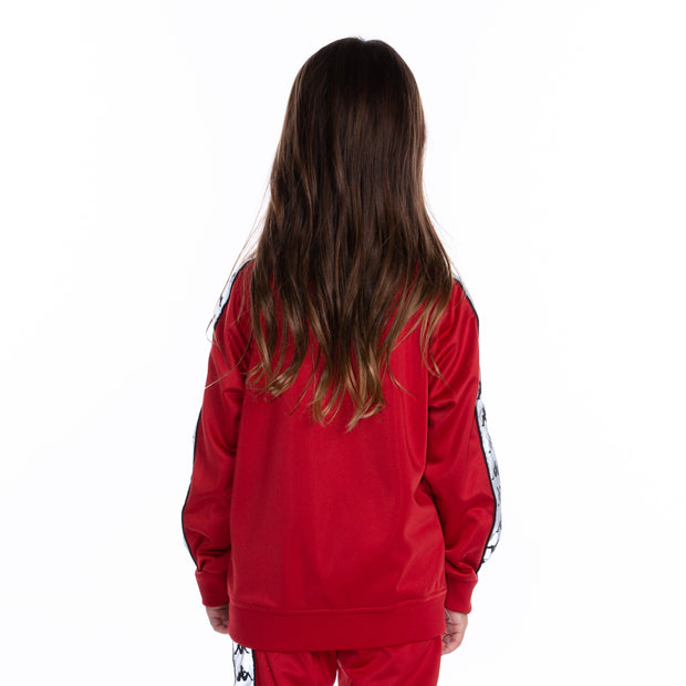 Kids 222 Banda Joseph Reflective Track Jacket - Red Grey Reflective