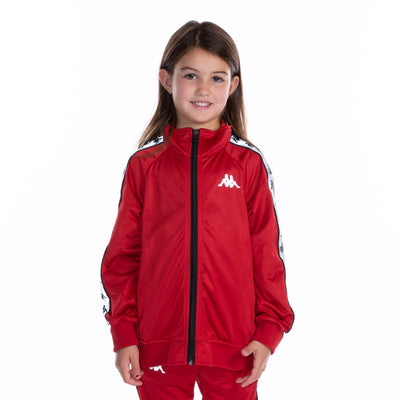 Kids 222 Banda Joseph Reflective Track Jacket Red Grey Reflective