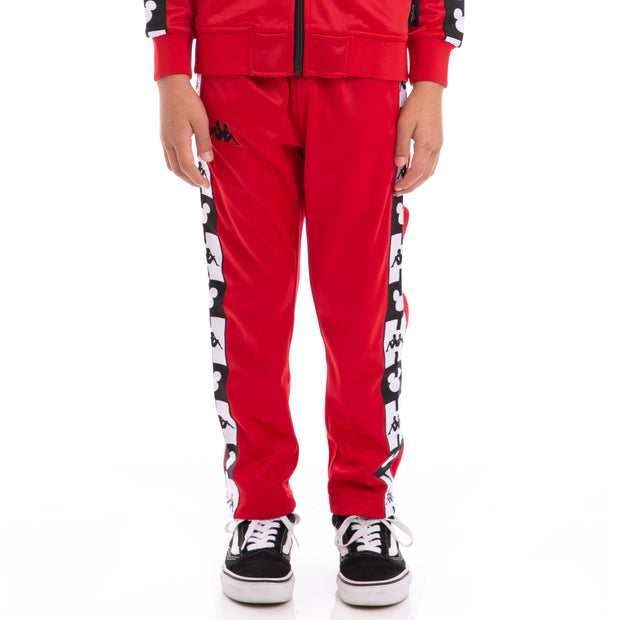 Kappa Kids Authentic Anthony Disney Red Black Trackpants