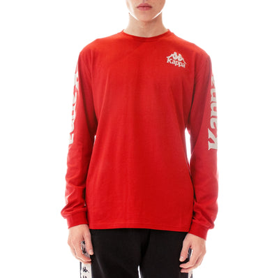 Authentic Defer Reflective Long Sleeve T-Shirt Red Grey Reflective