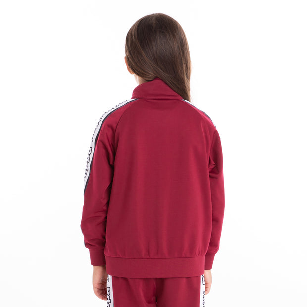 Kids Logo Tape Artem Track Jacket Red Dk White Black