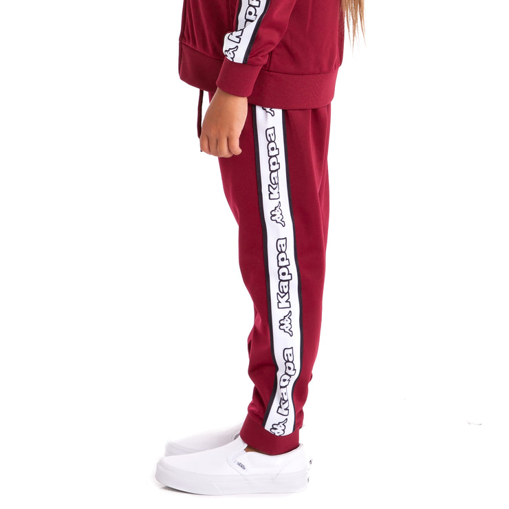 Kids Logo Tape Alic  Trackpants Red Dk White Black