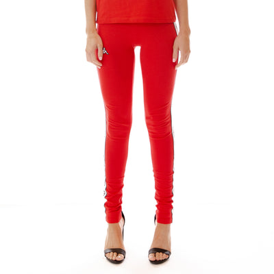 Logo Tape Arivo Leggings Red White Black