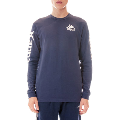 Authentic Defer Reflective Long Sleeve T-Shirt Blue Grey Reflective