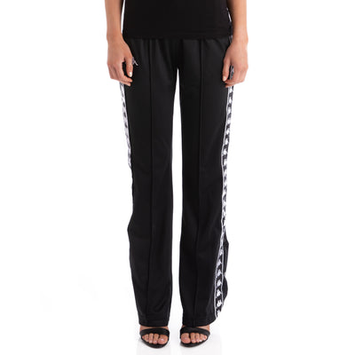 Kappa 222 Banda Wastoria Snaps Alternating Banda Black White Pants