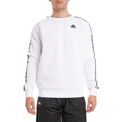 Kappa 222 Banda Arbir Alternating Banda White Black Sweatshirt