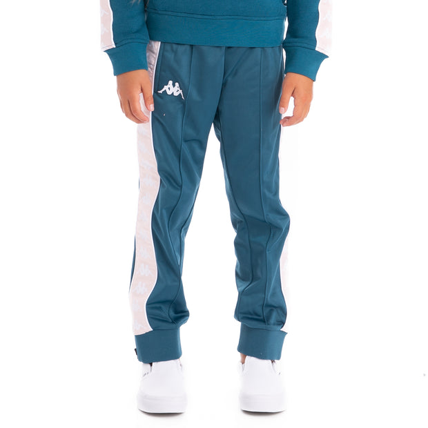 Kids 222 Banda Rastoriazz Trackpants - Blue Petrol Pink