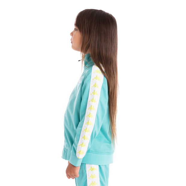 Kids 222 Banda Anniston Track Jacket Green Lt White