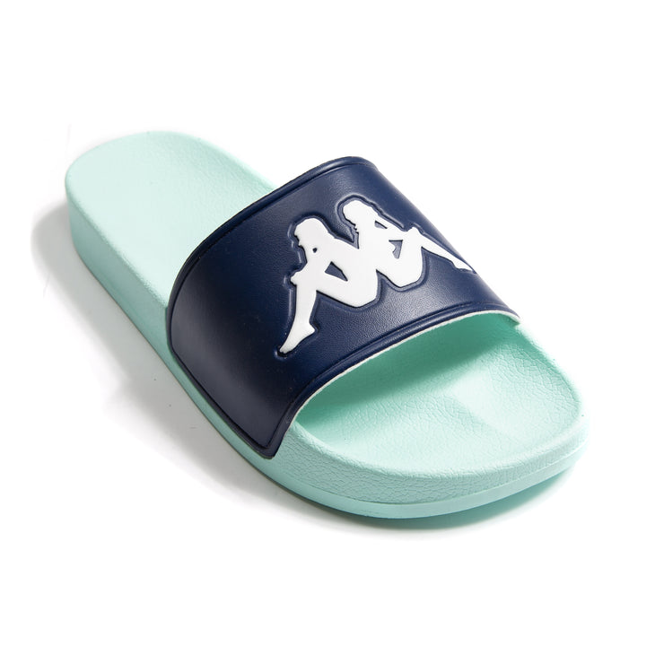 Authentic Adam 2 Blue Green Pastel Slides