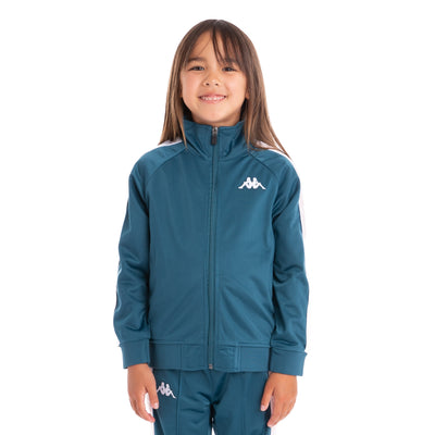Kids 222 Banda Anniston Track Jacket Blue Petrol Pink