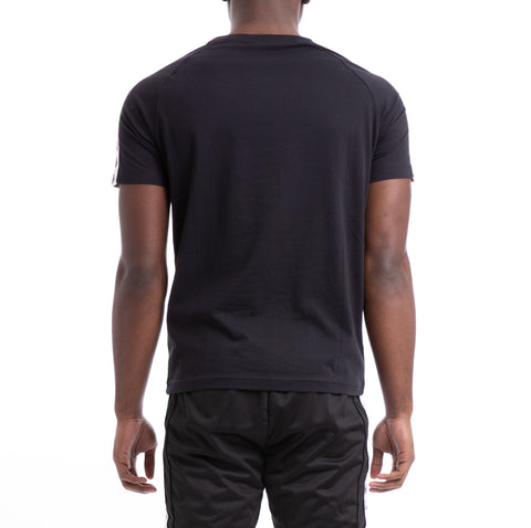 Kappa 222 Banda Coen Slim Black White T-Shirt