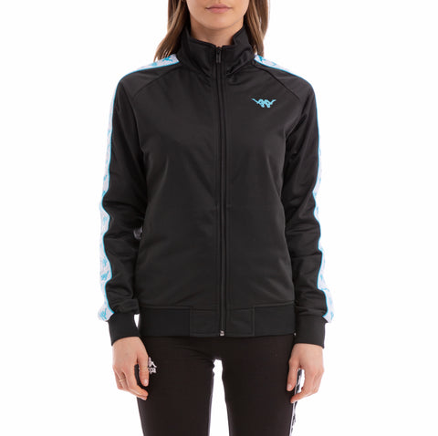 Authentic Babau Up & Down Black White Turquoise Track Jacket