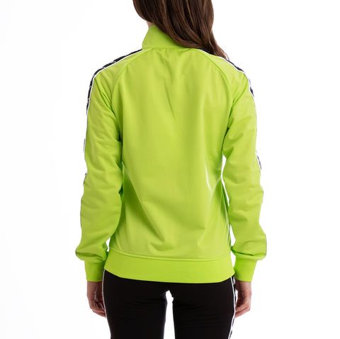 Kappa Authentic Babau Up & Down Green Lime Black White Track Jacket
