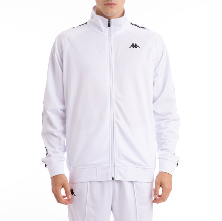 Kappa 222 Banda Anniston White Black Track Jacket