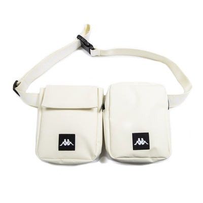 222 Banda Bolly Grey Beige White Double Waist Bag