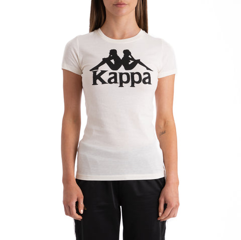 Kappa Authentic Westessi Beige Black T-Shirt