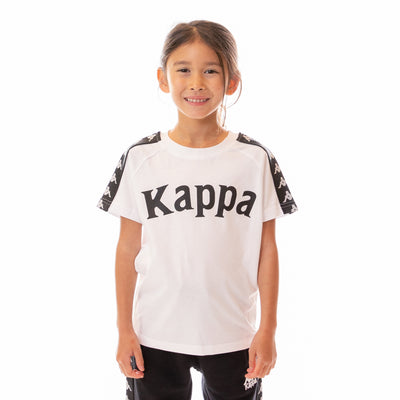 Kids 222 Banda Balima T-Shirt - White Black White