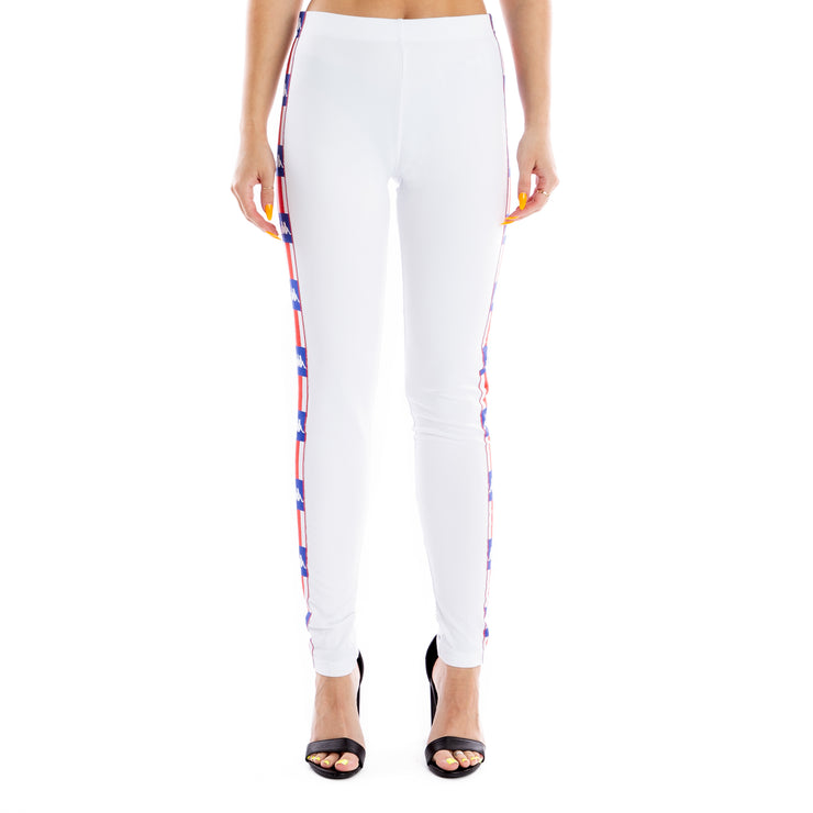 Authentic LA Baward Leggings - White Blue