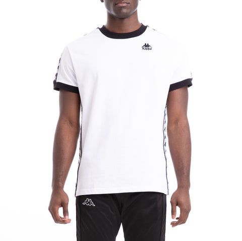 Kappa 222 Banda Bismal White Black T-Shirt