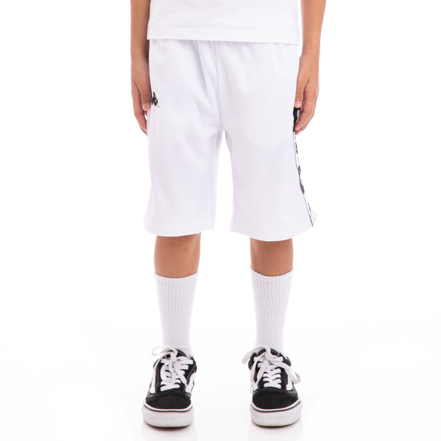 Kappa Kids Authentic Arwell White Black Shorts