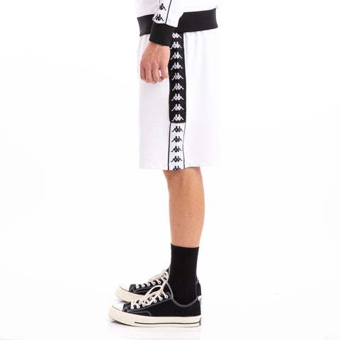 Kappa Authentic Biplus White Black Shorts