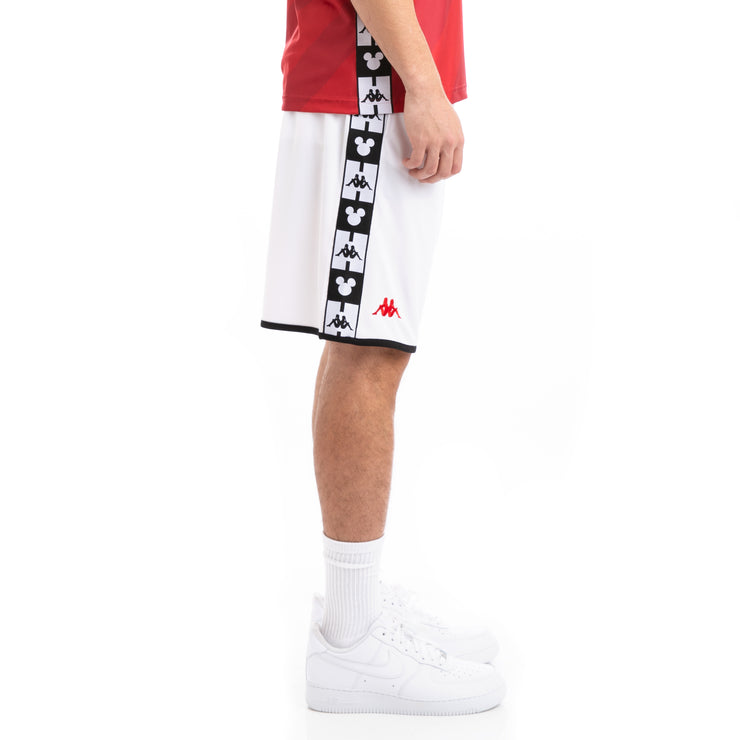 Kappa mens Authentic Basort Disney White Red Shorts