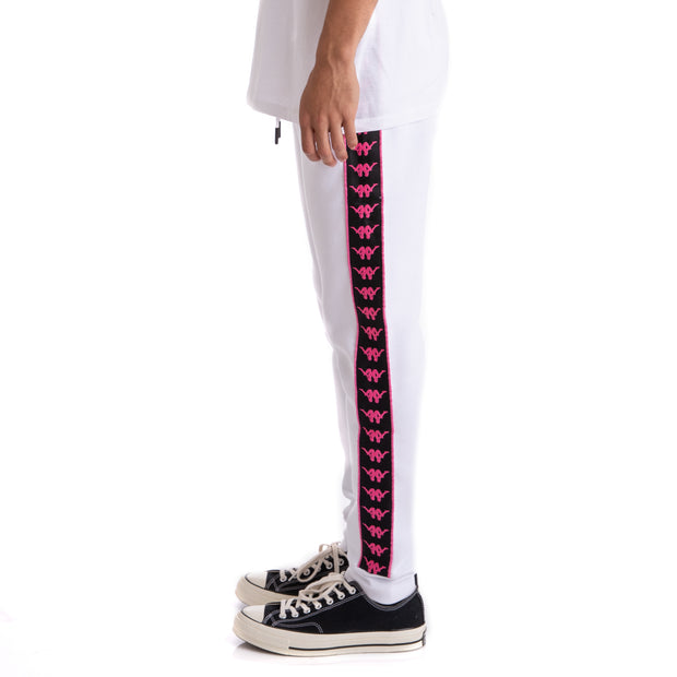 Kappa Authentic Butspad Up & Down White Black Pink Sweatpants
