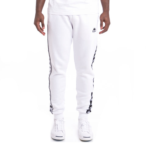 Kappa 222 Banda Alanz Alternating Banda White Black Sweatpants
