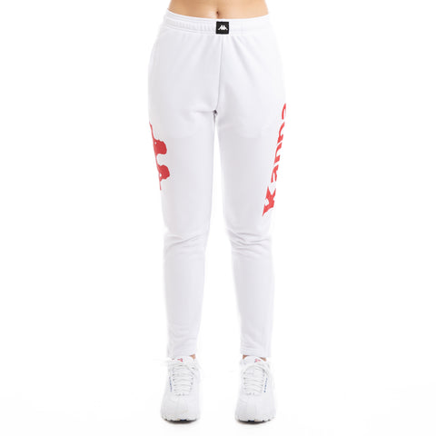 Kappa Kalcio Bigily White Red Trackpants