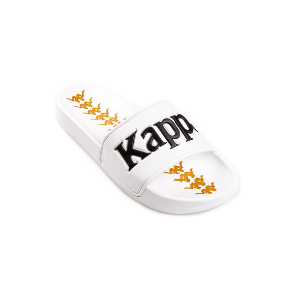 Kappa 222 Banda Adam 9 White Black Slides