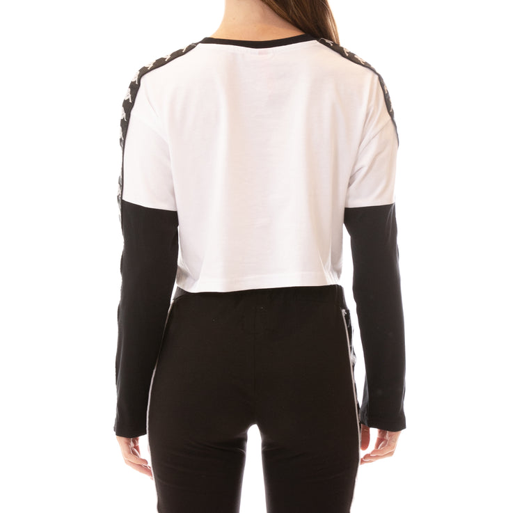 222 Banda Boculus Long Sleeves Tee - White Black
