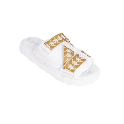 222 Banda Mitel 1 White Gold Sandals