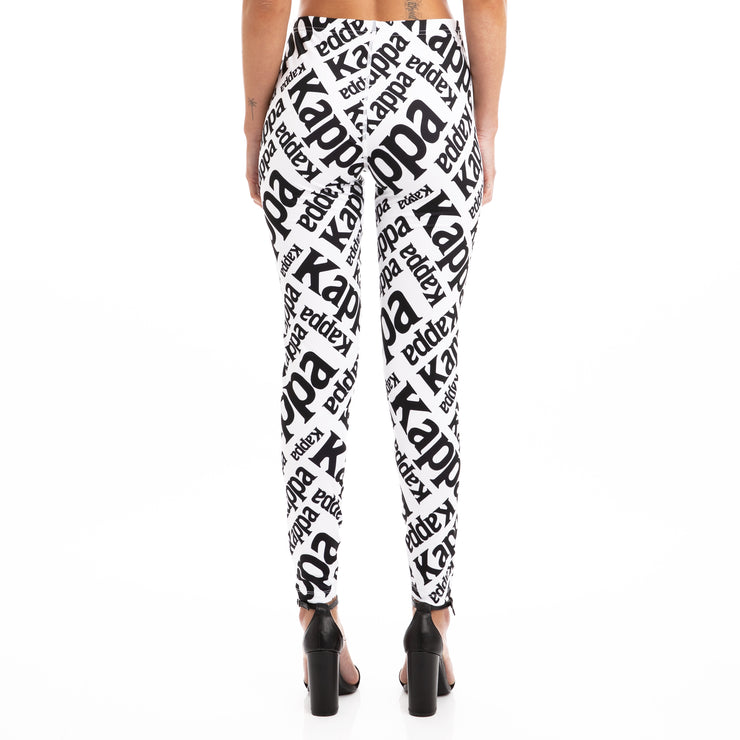 Kappa Authentic Bima White Black Leggings