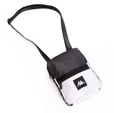 222 Banda Bayes White Black Crossbody Bag