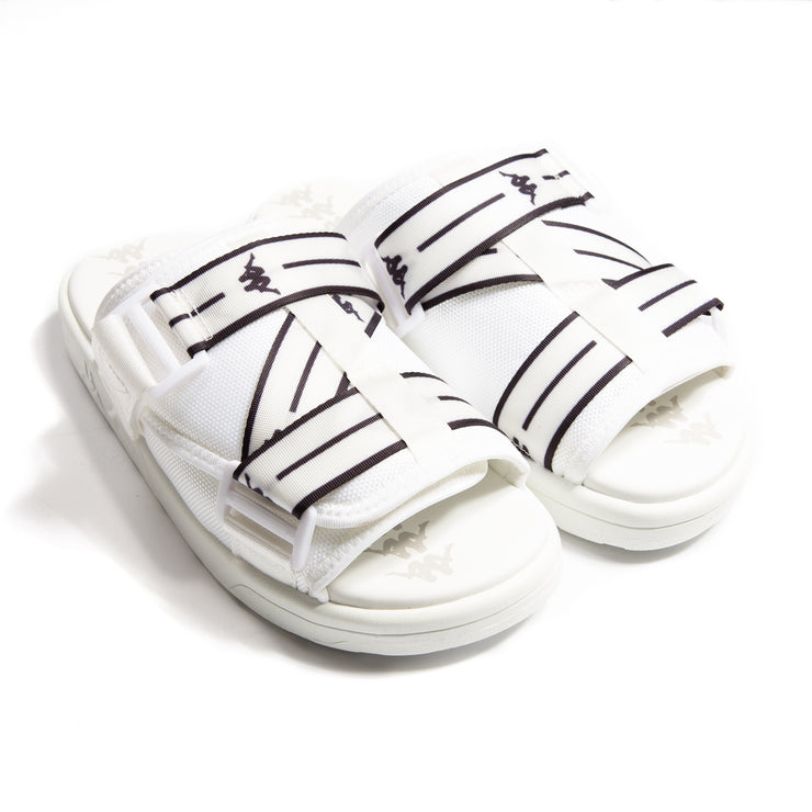 Authentic Jpn Mitel White Black Sandals