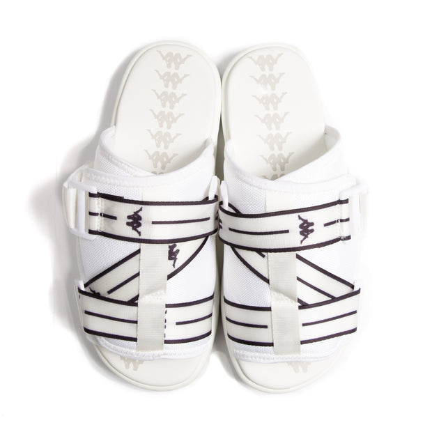 Authentic Jpn Mitel Sandals - White Black