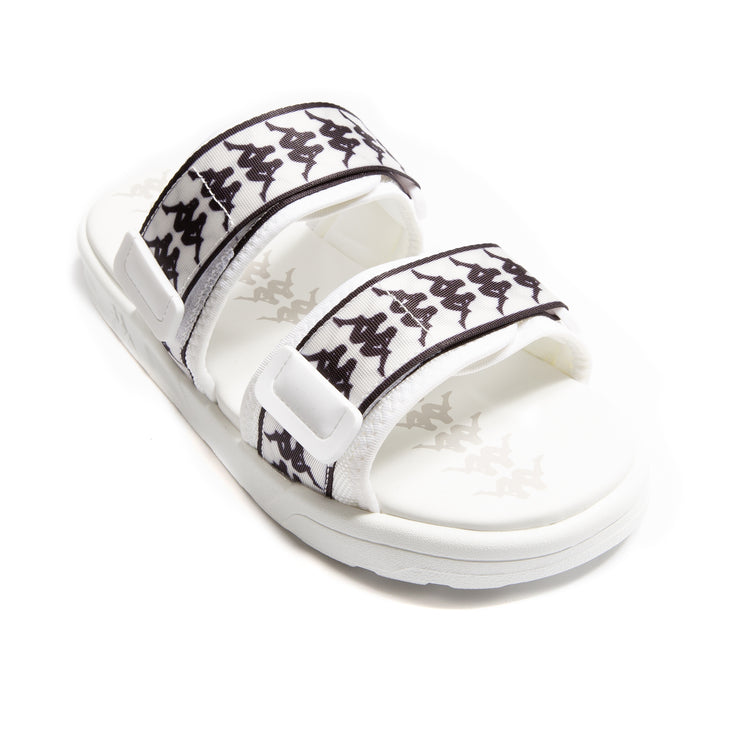 222 Banda Aster 1 Sandals - White Black
