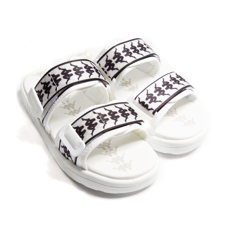 222 Banda Aster 1 White Black Sandals