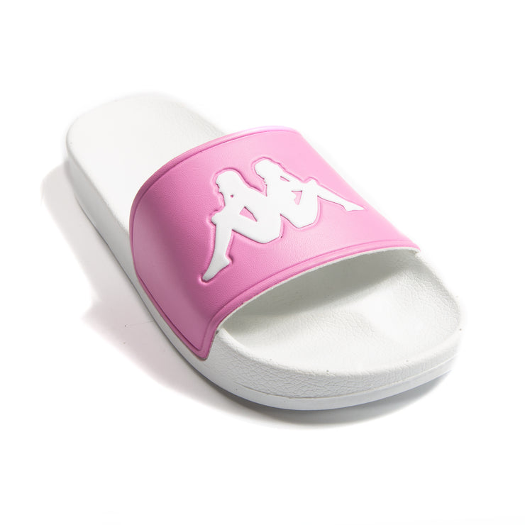 Authentic Adam 2 Pink White Slides