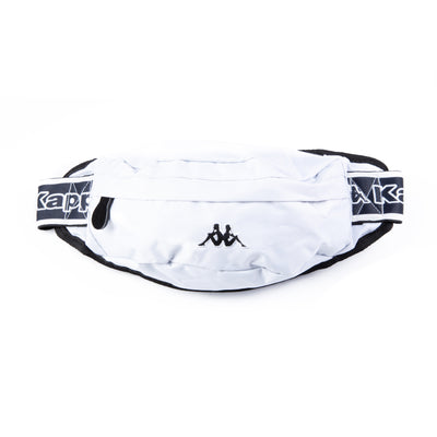 Logo Tape Bais Pouch Bag White Black White