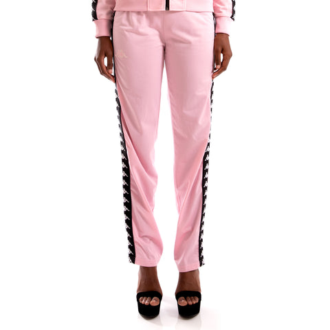 Kappa 222 Banda Wastoria Pink Black Trackpants